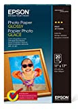 Epson S041156 Glossy Photo Paper, 52 lbs, Glossy, 11 x 17 (Pack of 20 Sheets)