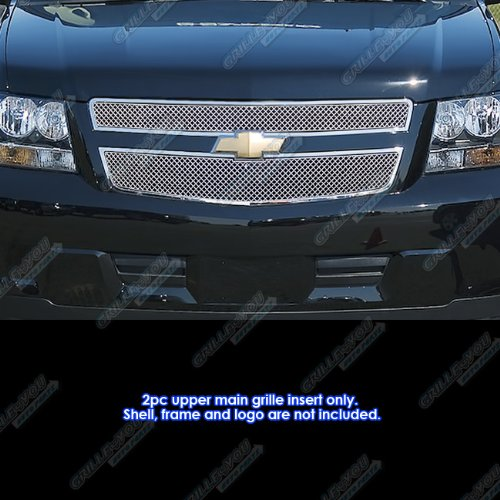 Fits 2009-2013 Chevy Tahoe Hybrid Stainless Steel X Mesh Grille Grill Insert #CX6671S - Chevy Tahoe Hybrid
