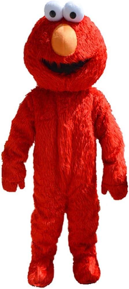 Binize Elmo Disfraz de Monstruo Rojo de Felpa, Disfraz de Dibujos ...