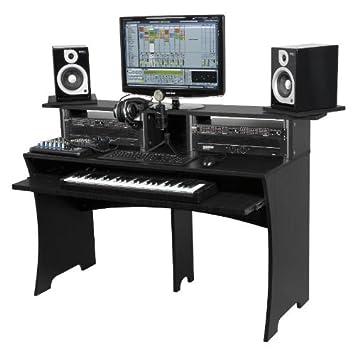 Beau GLORIOUS DJ BLACK WORKBENCH Home Studio Accessories: Amazon.co.uk:  Electronics