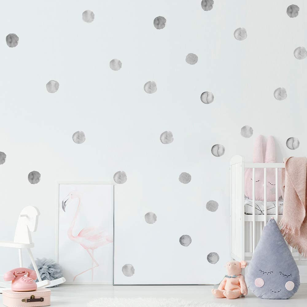 Wall Sticker, Rohome PVC Peel and Stick Wall Decals Wall Decor Mural Multi-Color Dots Sofa Background Living Room Boys Girls Baby Bedroom Kitchen Nursery Room Furniture Decorations (Parent) (Gray)