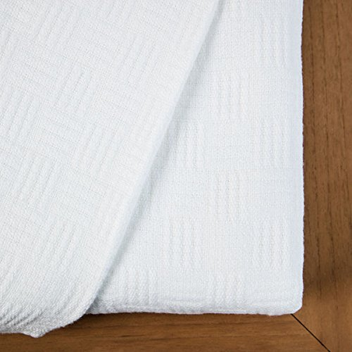 Maison Luxe Ultimate Luxury Eco-Chic Rayon from Bamboo Cotton Basket Weave Blanket by Maison Luxe