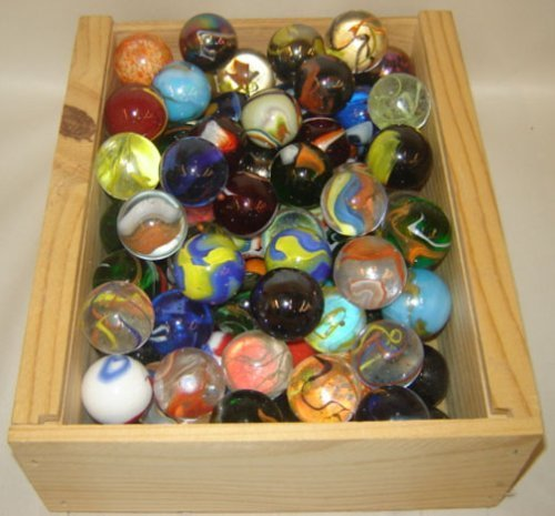 Mega Marbles SET OF 4 ASSORTED BULK - 1 3/8'' BOULDER MARBLES