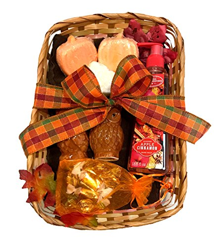 Fall Gift - Autumn Gift - Campus Care Package - Miss You Gift! Great Gift Basket for Wishing a Happy Thanksgiving! (Thankful For You Gift - Apple Cinnamon) (Wine And Cheese Gift Baskets Delivery)