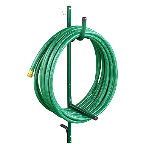 Hose Storage Caddy with Sturdy Stake for Anywhere in Yard or Garden - Prevents Kinks and Tangles ()