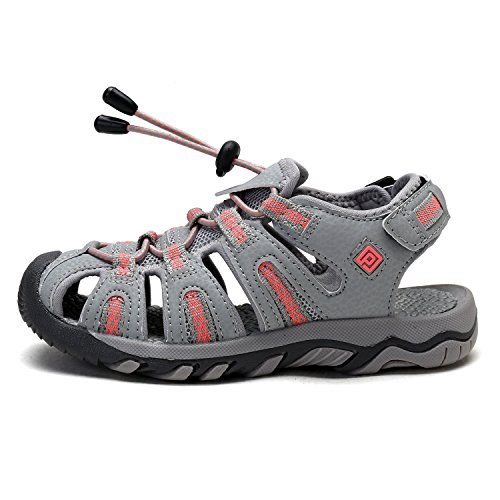 DREAM PAIRS Big Kid 160912-K LT.Grey Coral Outdoor Summer Sandals Size 6 M US Big Kid by DREAM PAIRS (Image #1)