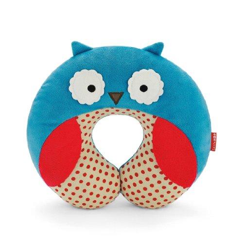 Baby Kid Children's Skip Hop Zoo Car Seat Travel Neck Rest Soft Plush Toy Pillow (Owl)