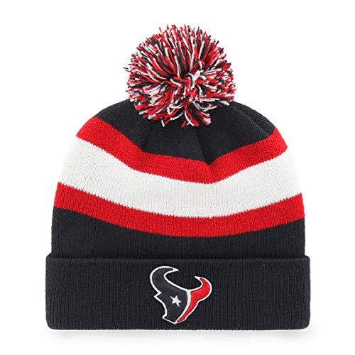 NFL Houston Texans Rush Down OTS Cuff Knit Cap with Pom, Navy, One Size]()