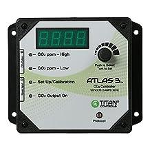 Titan Controls Day/Night Carbon Dioxide (CO2) Monitor & Controller w/Photocell, 120V - Atlas 3