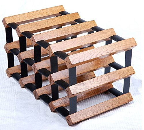 - Luxury 12 Bottle Cellar Trellis Wine Rack (Natrual Oak)