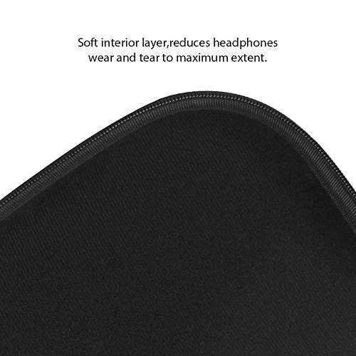 Large Product Image of COWIN E7 Tailor-made Headphone Case, Waterproof Zipper Hard Travel Portable Headphone Carrying Case, Perfectly Fit for E7 Over-ear Headphones - Black