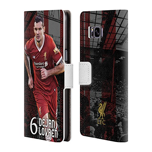 Official Liverpool Football Club Dejan Lovren 2017/18 First Team Group 1 Leather Book Wallet Case Cover For Samsung Galaxy S8+ / S8 Plus
