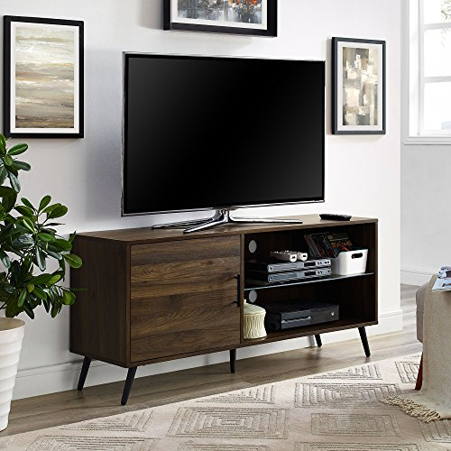Stand Tv Modern Metal (WE Furniture AZ52NORGSDW Adjustable TV Stand, 52