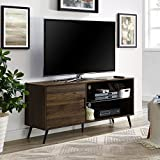 WE Furniture AZ52NORGSDW Adjustable TV Stand, Dark Walnut
