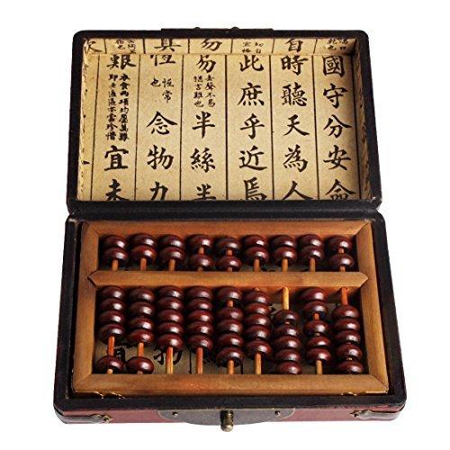 Envejecimiento Tratamiento Bead Aritmética Abacus SP-01de laca de madera estilo clásico