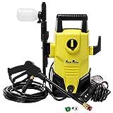 XtremepowerUS Mini Electric Pressure Washer Hose Lightweight Jet 1300 PSI 1.2 GPM Sprayer Cleaner Machine Soap Dispenser