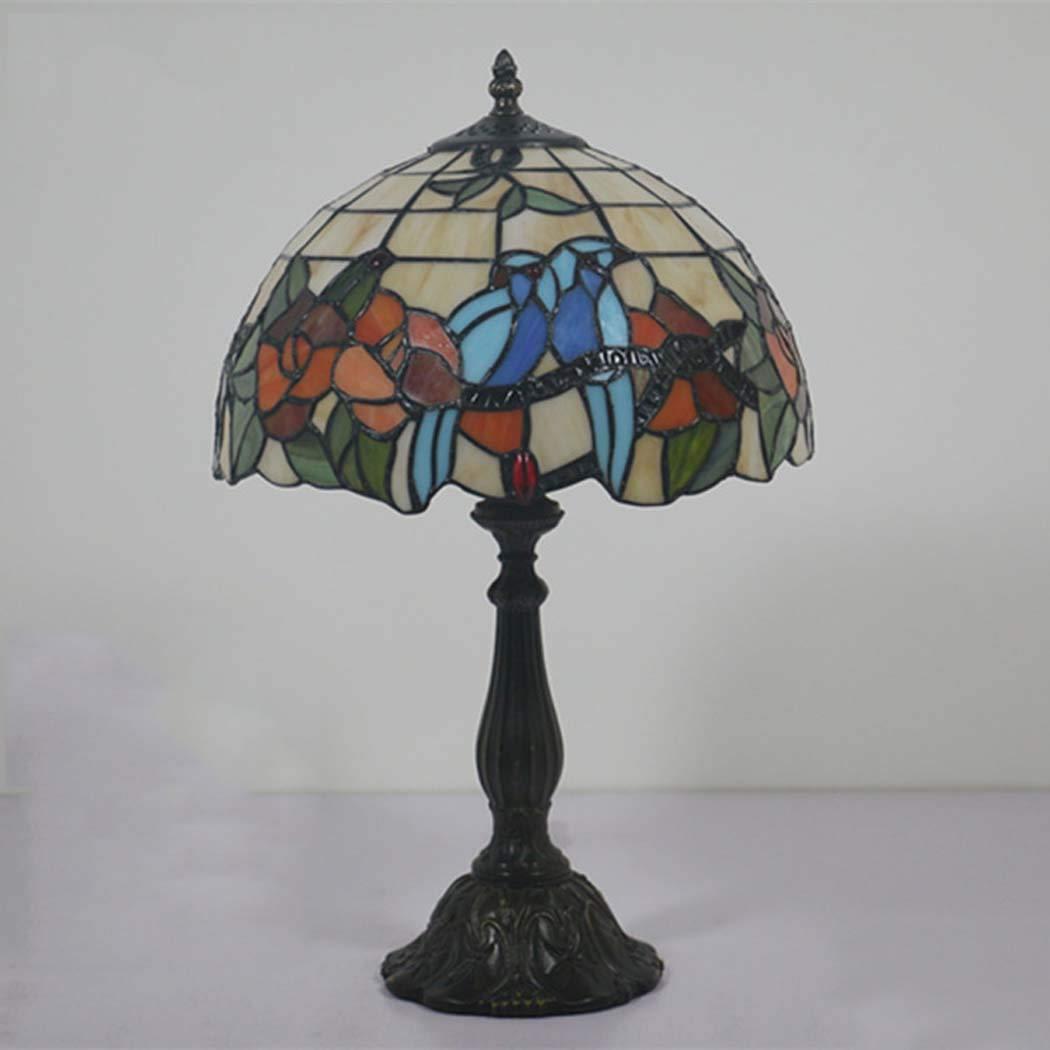 ZHANGJW Lámpara de Mesa de Estilo Tiffany, Pantalla de ...