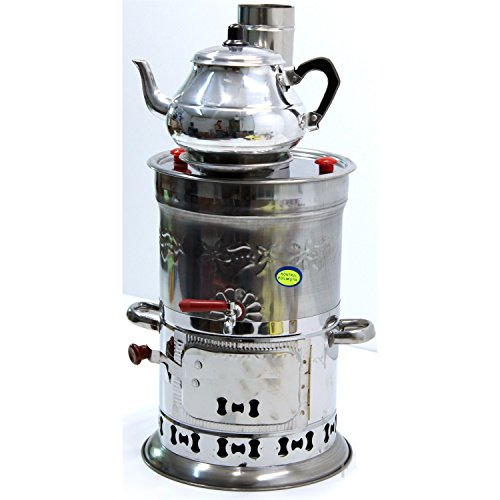 Samovar Free Energy Water Heater TEAPOT INCLUDED 4l /150 Oz Semaver Samavar Boat Camping Hiking Hunting Yachting Tea Kettle Urn Tea-urn BBQ