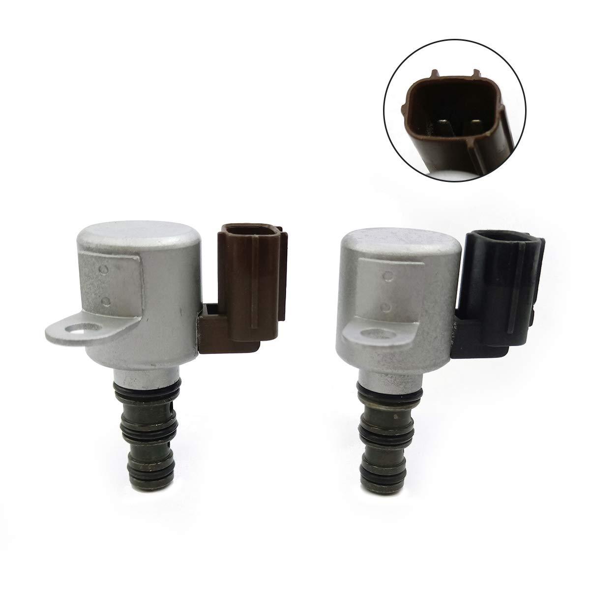 Amhousejoy Transmission Shift Solenoid Kit Fits 1998-2007 Honda Acura, 28400-P6H-003 28400-P6H-013 28500-P6H-003 28500-P6H-013, B&C Brown & Black