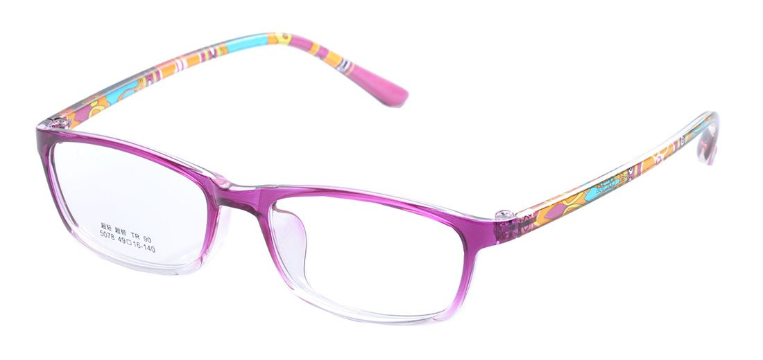De Ding Boys Girls Eyeglasses Multicolored Kids Tr90 Frame (purple)