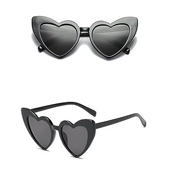 Cinjade Gafas de Sol clásicas de Las Mujeres Retros en Forma de corazón  Gafas de Sol de plástico Marco de Resina Gafas Anti-UV  Amazon.es  Deportes  y aire ... f9fa167212b6