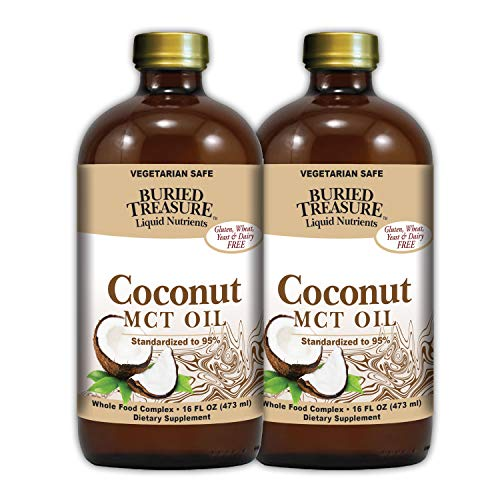 Cheap Buried Treasure MCT Coconut Oil for Healthy Brain Function Increased Performance Keto and Paleo Diet Safe Flash Steamed Medium Chain Triglycerides 32 Ounce (Pack of 2)