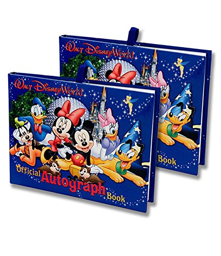 Walt Disney World Exclusive Official Autograph Book Mickey & Gang Set of 2