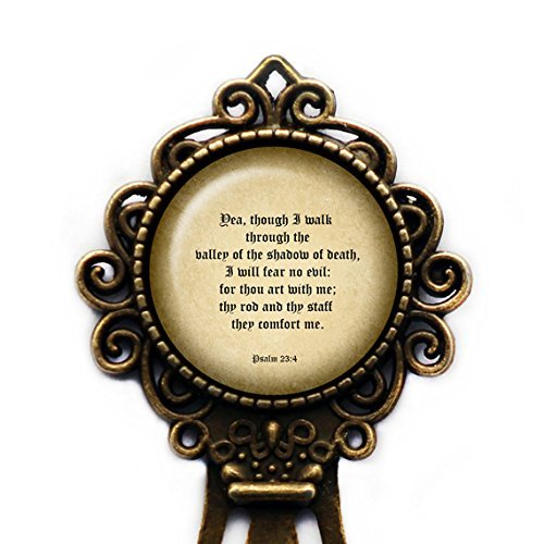 Psalm 23:4 The Valley of the Shadow of Death King James Version KJV Bible Bronze Bookmark