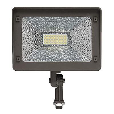 Morsen LED Flood Light, Dust to Dawn Photocell 50W Security Outdoor Light, IP65 Waterproof, 5000K, 5500lm, 50000Hrs, ETL Qualified DLC Listed