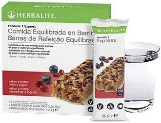 Barrita Fórmula 1 Express Frutos Rojos y Yogur (7u): Amazon ...