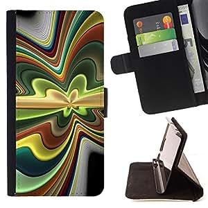 For HTC One M9 - Abstract Psychedelic /Funda de piel cubierta de la carpeta Foilo con cierre magn???¡¯????tico/ - Super Marley Shop -