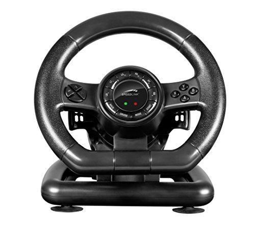 Speedlink SL-650300-BK Black Bolt Gaming-Lenkrad für PC (XInput- und DirectInput, Vibrationseffekte) schwarz