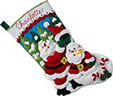 Bucilla 86862 Santa's Snowman Stocking Kit