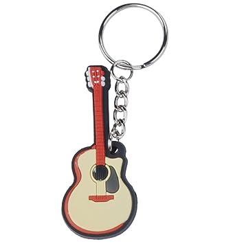 Punk de silicona llavero instrumento musical con forma de ...
