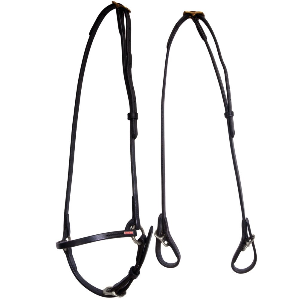 Black NETPROSHOP Iceland Horse Karlslund Complete Snaffle Leather Snaffle black, Colour Black