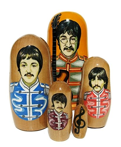 GreatRussianGifts The Beatles Sgt. Pepper 4.5'' Nesting Doll 5-Piece Russian Matryoshka Set by GreatRussianGifts (Image #2)