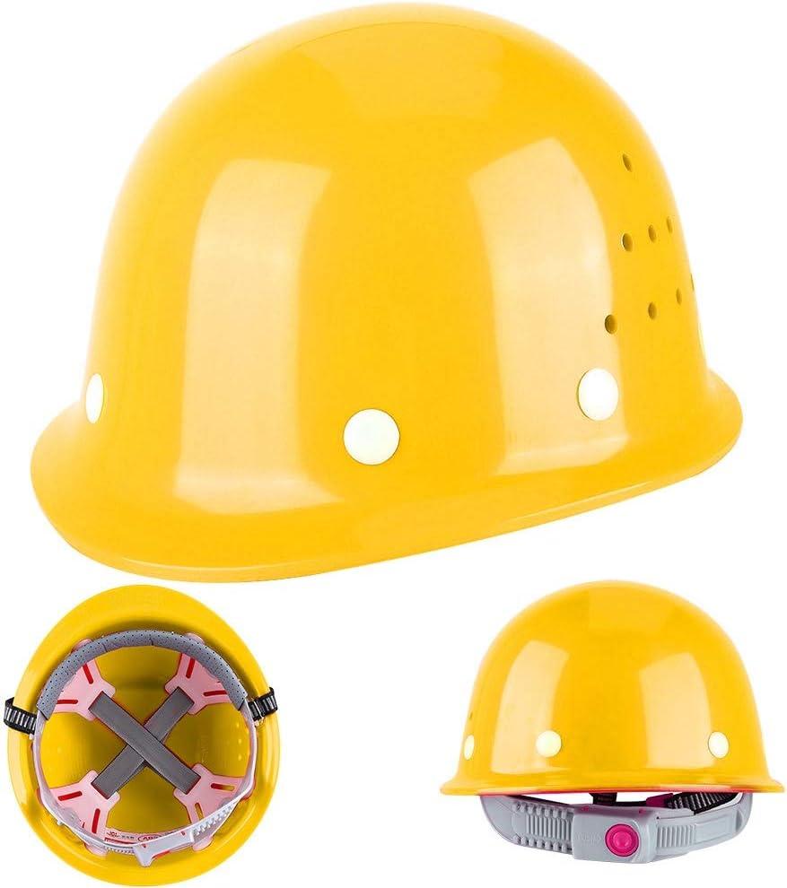 Ajustable Respirant S/écurit/é Protectrice Chapeau Casquette Convient au Chantier de Construction//Exploitation Mini/ère//Charbon//M/étallurgie//P/étrole Haute r/ésistance ABS Casque de S/écurit/é Jaune
