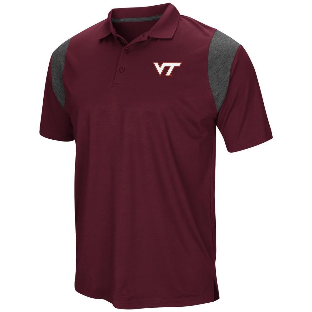 Colosseum Virginia Tech Hokies Mens Maroon Friend Polo Shirt