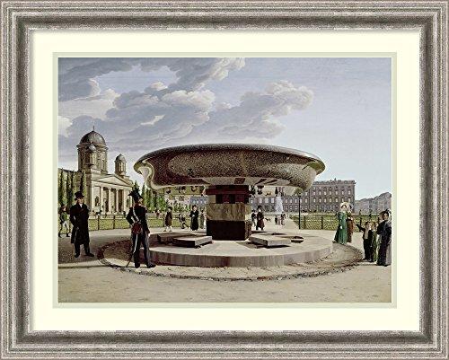 Framed Art Print 'The Granite Dish In The Pleasure Garden' by Johann Erdmann - Granite Plaza