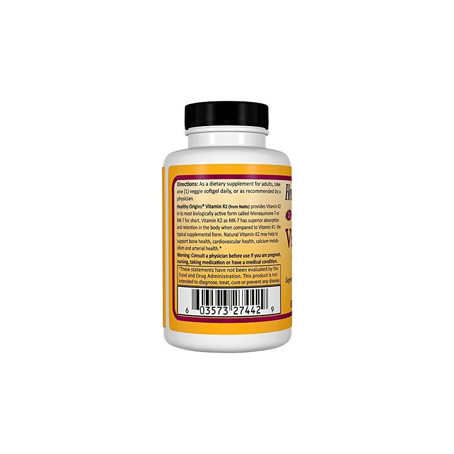Healthy Origins Vitamin K2 As MK 7 Supplement