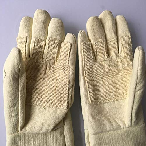 DAN Welding Gloves Heat Resistant Cow Split Leather/Camping/Cooking Welder Fireplace by DAN (Image #2)