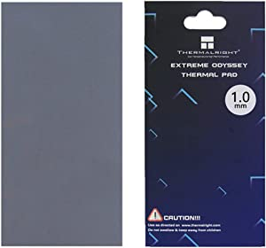 nkomax Thermalright Thermal Pad 12.8 W/mK, 85x45x1mm, Non Conductive Heat Resistance High Temperature Resistance, Silicone Thermal Pads for Laptop Heatsink/GPU/CPU/LED Cooler (1mm)