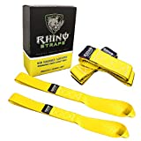 """GORILLA Soft Loops Motorcycle Tie Down Straps, 10,427lb Break Strength, 1.7"""" wide x 17"""" long, (Pack of 4) - Yellow"""