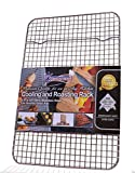 """Kitchenatics 100% Stainless Steel Wire Cooling and Roasting Rack Fits Quarter Sheet Size Baking Pan, Oven Safe, Commercial Quality, Heavy Duty (8.5"""" X 12"""")"""