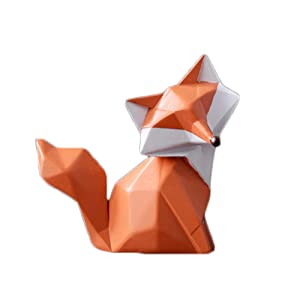 Colias Wing Home Decor Adorable Fox Shape Stylish Design Coin Bank Money Saving Bank Toy Bank Cents Penny Piggy Bank (Orange-2)