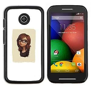 - Cute Glasses Girl For Motorola Moto E (1st Gen, 2014) Hard Snap On Cell Phone Case Cover @ Cat Family