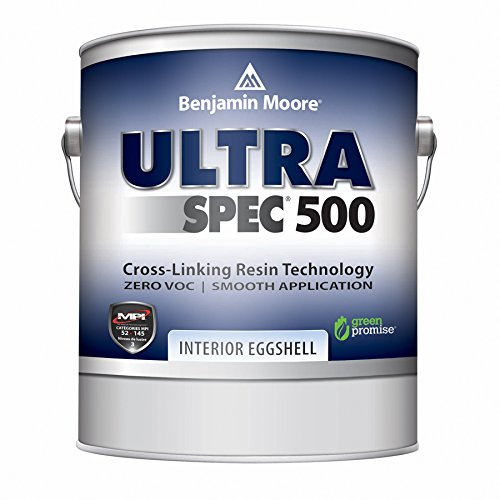 Benjamin Moore Ultra Spec 500 Interior Paint - Eggshell Finish (Gallon, White)