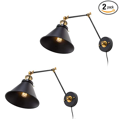 Lights & Lighting Wall Lamps American Country Retro Iron Glass Shape Restaurant Wall Lamp Foldable Swing Arm Aisle Cafe Decoration Wall Light Free Shipping Selling Well All Over The World