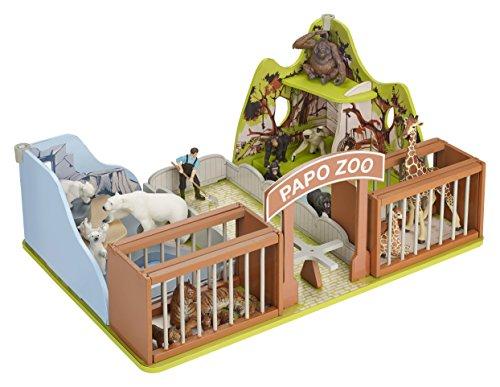 Papo Wild Animal Kingdom Environments Set, The Zoo (Set Kingdom Animal)