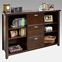 kathy ireland Home by Martin Tribeca Loft Cherry 3 Drawer File/Bookcase - Fully Assembled